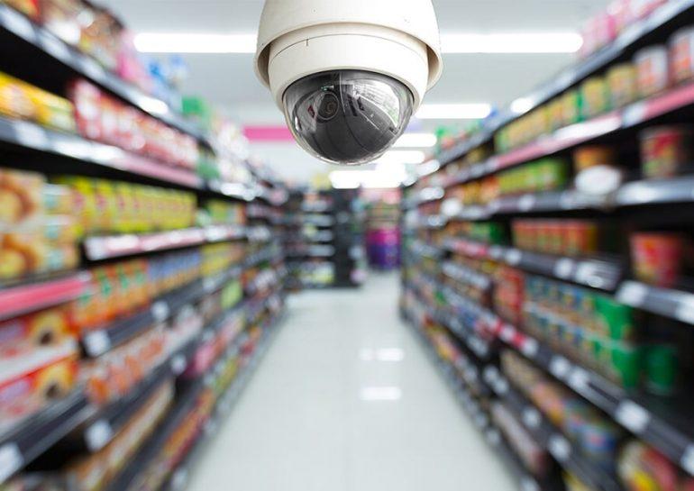 Установка камер видеонаблюдения в супермаркетах и магазинах